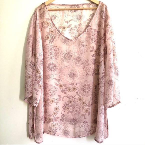 label removed Other - NWOT Silk georgette cover-up 3X